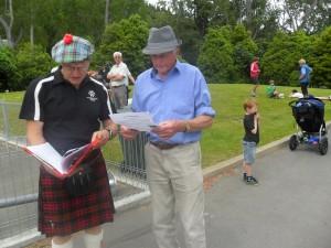Pat Sidon with Ian McDonald